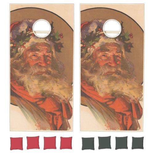 Vintage Santa Claus Illustration 1907 Cornhole Set