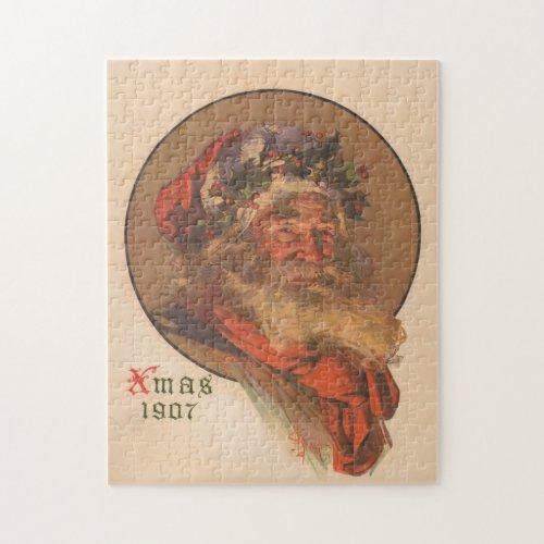 Vintage Santa Claus Illustration 1907 Jigsaw Puzzle