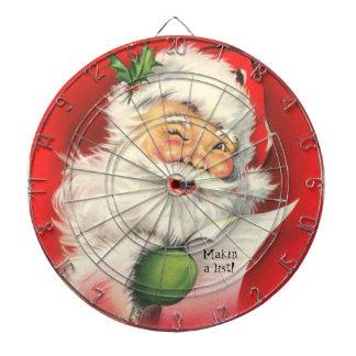 Vintage Santa Claus illustration -Dart board Dart Board