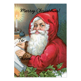 Vintage Santa Claus Image Gift Tag Business Card Templates