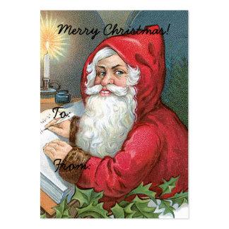Vintage Santa Claus Image Gift Tag Large Business Card