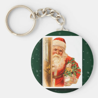 Vintage Santa Claus Image Keychain