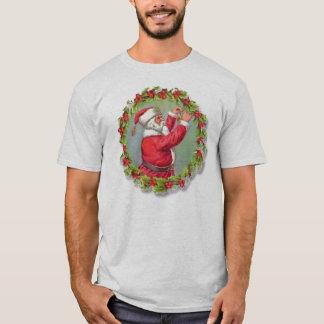 Vintage Santa Claus in a Wreath T-Shirt