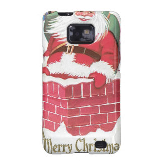 Vintage Santa Claus in Chimney Galaxy SII Cases