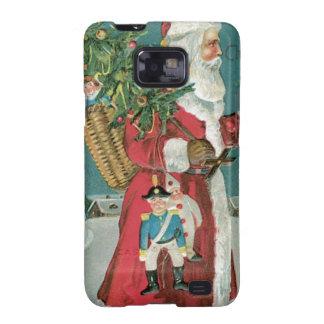 Vintage Santa Claus in the Snow Samsung Galaxy S2 Cases