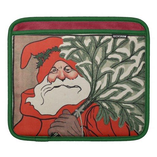 Vintage Santa Claus iPad Sleeve