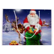 Vintage Santa Claus Large Gift Bag