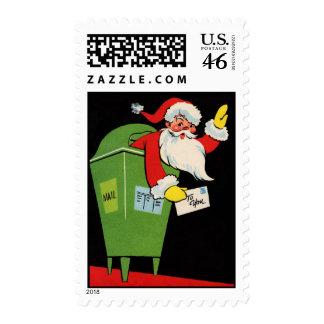 Vintage Santa Claus Mailbox Stamp