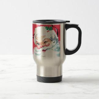 Vintage Santa Claus 15 Oz Stainless Steel Travel Mug
