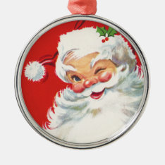 Vintage Santa Claus Ornament at Zazzle