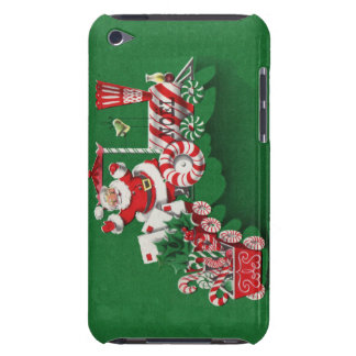 Vintage Santa Claus Peppermint Candy Train Barely There iPod Cover