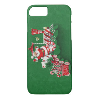 Vintage Santa Claus Peppermint Candy Train iPhone 8/7 Case