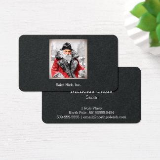 Vintage Santa Claus Photo / Painting Business Card