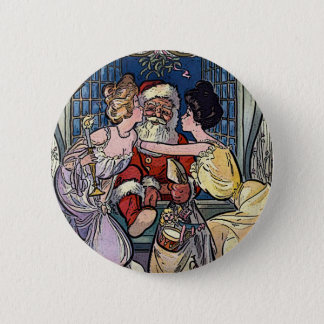 Vintage Santa Claus Pinback Button