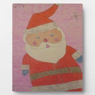 Vintage Santa Claus Plaque