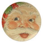 Vintage Santa Claus Plate