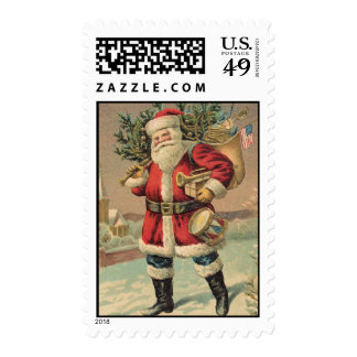 Vintage Santa Claus Postage Stamps