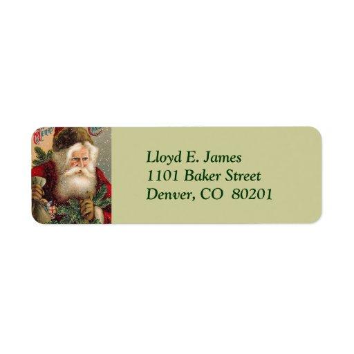 Vintage Santa Claus Return Address Label