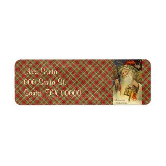 Vintage Santa Claus Return Address Labels