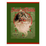 Vintage Santa Claus Sheet Music 1907 Cover (copy) Poster