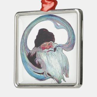 Vintage Santa Claus Smoking a Pipe Christmas Tree Ornament