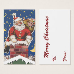 Night before christmas business cards templates zazzle vintage santa claus twas night before christmas business card flashek Choice Image