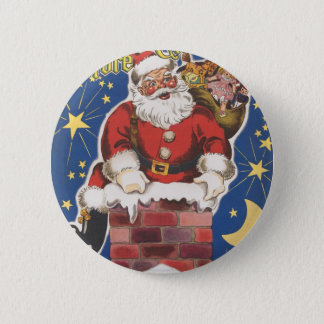 Vintage Santa Claus, Twas Night Before Christmas Button