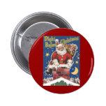 Vintage Santa Claus, Twas Night Before Christmas 2 Inch Round Button