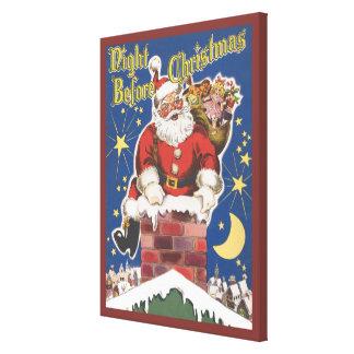 Vintage Santa Claus, Twas Night Before Christmas Canvas Print