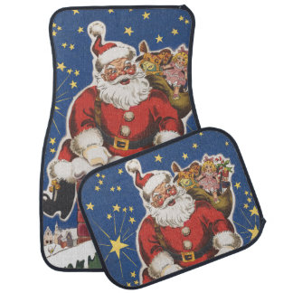 Vintage Santa Claus, Twas Night Before Christmas Car Mat