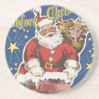 Vintage Santa Claus, Twas Night Before Christmas Coaster