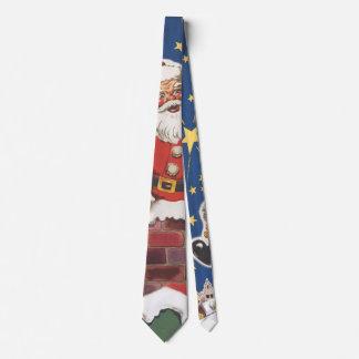 Vintage Santa Claus, Twas Night Before Christmas Neck Tie