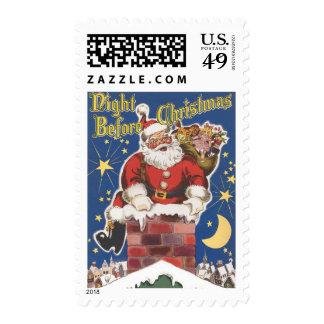 Vintage Santa Claus, Twas Night Before Christmas Stamps