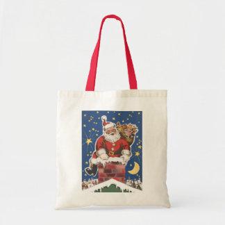 Vintage Santa Claus, Twas Night Before Christmas Tote Bag