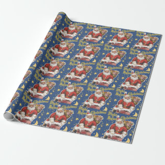 Vintage Santa Claus, Twas Night Before Christmas Wrapping Paper
