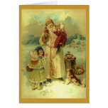 Vintage Santa Claus Victorian Christmas 1890s Card