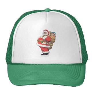 Vintage Santa Claus, Victorian Christmas die cut Trucker Hat