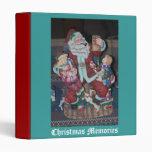 Vintage Santa Claus Vinyl Binders
