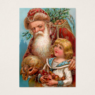 Vintage Santa Claus with Good Boy Business Card
