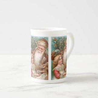 Vintage Santa Claus with Nice Girl Tea Cup