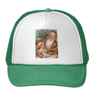 Vintage Santa Claus with Nice Girl Trucker Hat