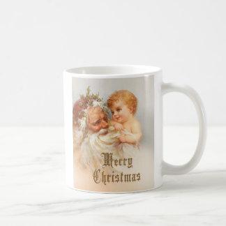 Vintage Santa Claus with Smiling Child Coffee Mug