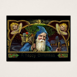Vintage Santa Claus with Toys 3 Business Card