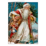 Vintage Santa Claus with toys Cards