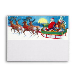 santa envelopes zazzle