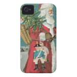 Vintage Santa Clause in the Snow iPhone 4 Covers