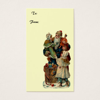 Vintage Santa Clause Present Gift Tag
