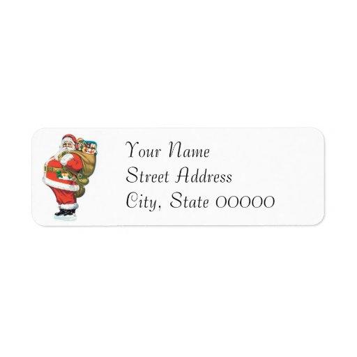 Vintage Santa Clause Return Address Labels