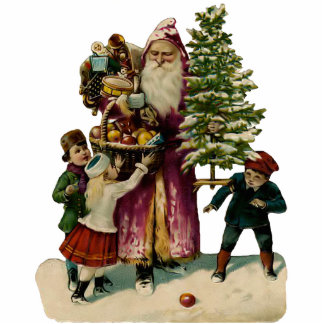 Vintage Santa Clause Sculpture magnet