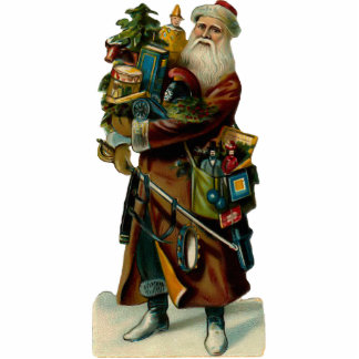 Vintage Santa Clause Sculpture Ornament